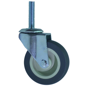 SWL 2-1/2x13/16 URE/POLYO STEM THRD 3/8x1-1/2  - 2 1/2 in.         ( 64 mm ) - CASTERS