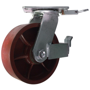 SWL 8x2.5 DUCT FLAT PLT TBBK4PL  - Red - CASTERS