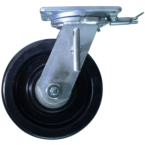 SWL 8x3 PHEN BLK PLT RB THBRK 4PSL  - Industrial Casters (HD 2000+ lbs) - CASTERS