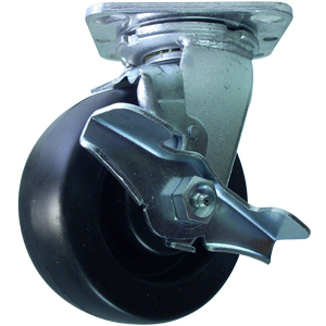 SWL 5x2 POLYO PLT DEL BRK  - Swivel Plate / Brake ( Top Lock ) - CASTERS