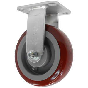 RGD 6x2 URE/POLYO MAR/GR PLT RB  - 6 in.             ( 152 mm ) - CASTERS