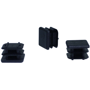 INS 7/8 SQR (14-23) BLACK  - Square Tube - INSERTS