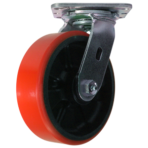 SWL 6x2 URE/GLNYL RED/BLK PLT RB  - Red / Black - CASTERS