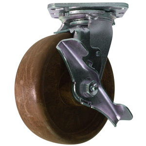 SWL 6x2 (HT) GL/FILLED NYLON PLT RB BRK  - High Temperature (HT) Casters - CASTERS