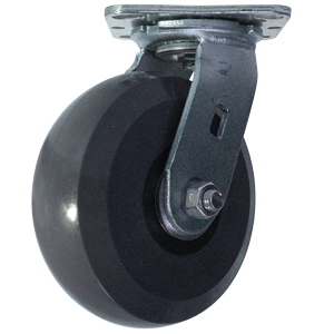 SWL 6x2 SOL URE/GLNYL GR/BLK PLT PBB  - Solid Urethane - CASTERS