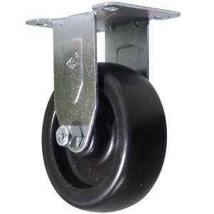 RGD 4x1-1/4 HD POLYO BLK PLT PB  - 4 in.              ( 102 mm ) - CASTERS