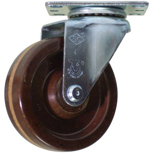 SWL 4x1-1/4 HT PHEN PLT PB  - High Temperature (HT) Casters - CASTERS