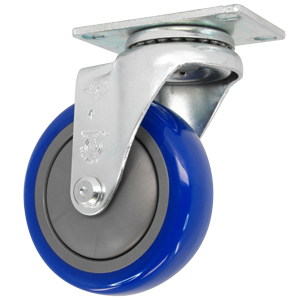 SWL 4x1-1/4 URE BLUE/POLYO PLT BB  - CASTERS