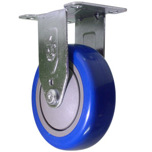 RGD 4x1-1/4 BLUE URE/POLYO PLT BB  - Urethane / Polyolefin - CASTERS