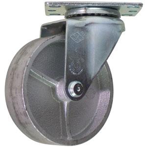 SWL 4x1-1/4 CAST PLT PB  - Semi Steel - CASTERS