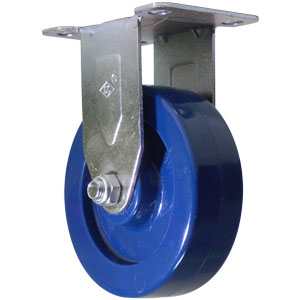 RGD 4x1-1/4 SOLID BLUE URE PLT PB  - Solid Urethane - CASTERS