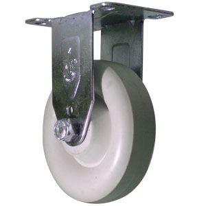 RIG 4x1-1/4 WHT DONUT POLYO PLT PB  - Industrial / Institutional Casters - CASTERS