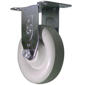 RIG 4x1-1/4 POLYO BLANC ARR PLQ PB  - 4 po            ( 102 mm ) - ROULETTES
