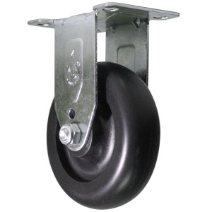 RGD 4x1-1/4 POLYO NOIR ARR PLQ PB  - 4 po            ( 102 mm ) - ROULETTES