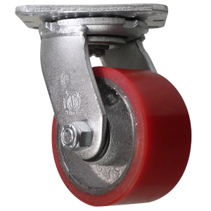 SWL 4x2 URE/CAST RB PLT  - 700 - 799 Lbs            ( 318 - 362 kg ) - CASTERS