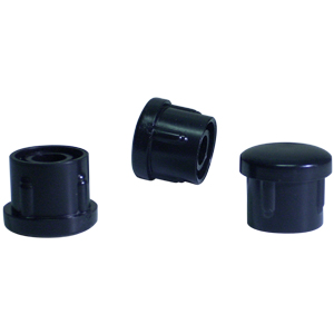 INS RND 1 (16-18) BLACK DOMED  - INSERTS