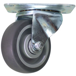 SWL 4x1.5 GR RUBB PLT RB  - CASTERS