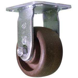 RGD 4x2 (HT) GL/NYLON PLT RB  - 4 in.              ( 102 mm ) - CASTERS