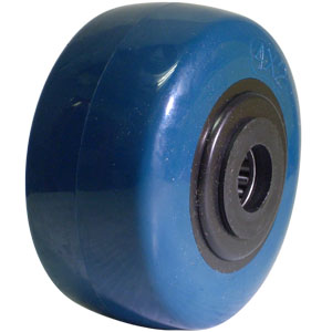 WHL 4x2 URE/POLYO BLUE/BLK 3/4 RB  - 4 in.              ( 102 mm ) - WHEELS