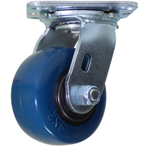SWL 4x2 URE/POLYO BLUE/BLK RB  - Blue / Black - CASTERS