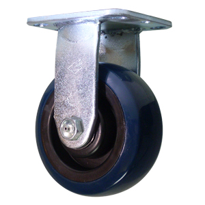 RGD 5x2 URE/POLYO BLUE/BLK PLT RB  - 5 in.              ( 127 mm ) - CASTERS