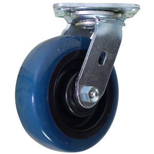 SWL 6x2 URE/POLYO RB BLUE/BLK  - Blue / Black - CASTERS