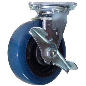 SWL 6x2 URE/POLYO RB BLUE/BLK BRK  - 700 - 799 Lbs            ( 318 - 362 kg ) - CASTERS