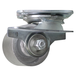 SWL 3-1/4x2 SEMI STEEL PLT RB BRK  - Swivel Plate / Brake ( Side Brake ) - CASTERS