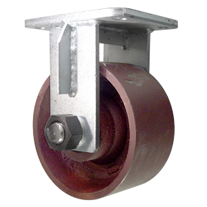RGD 8x4 DUCT RED PLT TB  - Rigid Top Plate ( R ) - CASTERS