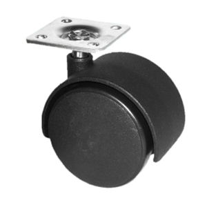 TWN 50mm NY PLATE BLACK  - CASTERS