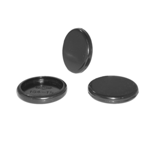 CAP RND 1-1/4 BLACK  - Round Tube - CAPS
