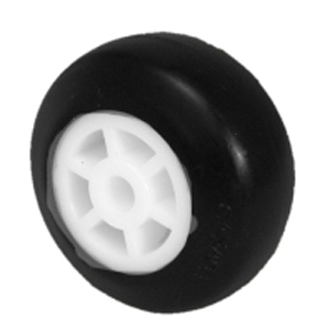 WHEEL 2'' POLYO 1/4 PB BLK  - Plain Bore (PB) - WHEELS