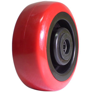 WHL 5x2 URE/POLYO RED/BLK 3/4 RB  - 5 in.              ( 127 mm ) - WHEELS