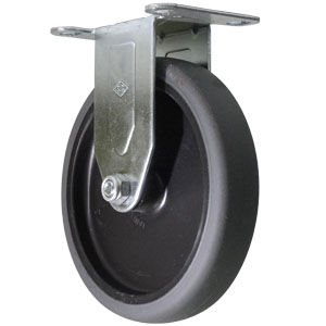RGD 5x1 GR RUBB/POLYO PLATE  - Thermoplastic Rubber / Polyolefin - CASTERS