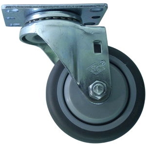 SWL 3-1/2 x 1-1/4 GR RUBB PLT BB  - Thermoplastic Rubber / Polyolefin - CASTERS