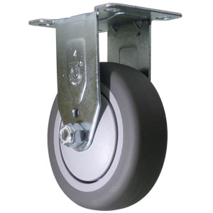 RIG 4x1-1/4 GR RUBB PLT BB  - 4 in.              ( 102 mm ) - CASTERS