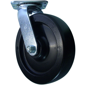 SWL 8x2 POLYO PLT DEL C/W RUBBER SWL SEAL  - 900 - 999 Lbs            ( 409 - 453 kg ) - CASTERS
