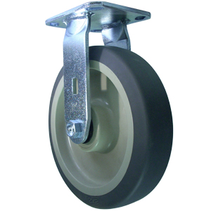 RGD 8x2 GREY RUBBER PLATE RB  - 8 in.             ( 203 mm ) - CASTERS