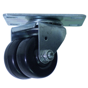 SWL TWN 2 MED HARD RUBBER PLT PB  - 2 in.               ( 51 mm ) - CASTERS