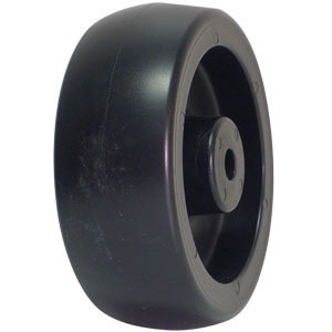 WHL 4x1.25 POLYO BLK PB 3/8  - Plain Bore (PB) - WHEELS