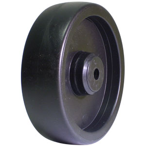 WHL 5x1.25 POLYO BLACK 3/8 PB  - Plain Bore (PB) - WHEELS