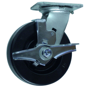SWL 6x2 PHEN PLT RB BRK  - Swivel Plate / Brake ( Top Lock ) - CASTERS