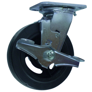 SWL 6x2 RUBB/CAST PLT RB BRK  - Swivel Plate / Brake ( Top Lock ) - CASTERS
