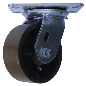 SWL 5x2 FLAT DUCTILE PLT RB  - Maroon - CASTERS