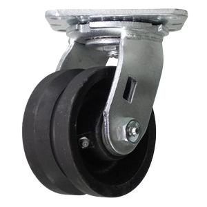 SWL 4x2 VGROOVE CAST PLT RB  - 600 - 699 Lbs            ( 273 - 317 kg ) - CASTERS