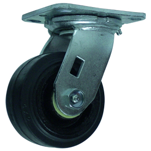 SWL 4x2 RUBB/CAST PLT RB  - Rubber / Cast Iron - CASTERS