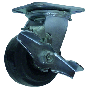 SWL 4x2 RUBB/CAST PLT RB BRK  - Swivel Plate / Brake ( Top Lock ) - CASTERS