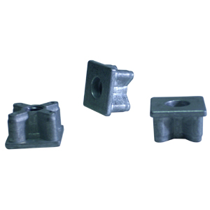 INS SQ 1(16ga) CAST THRD 3/8 (16)  - Square 1 in. O.D. - ADAPTERS
