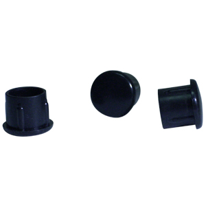 INS RND 3/4 (16-18) BLACK DOMED  - INSERTS