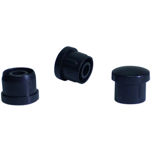 INS RND 7/8 (16) BLACK DOMED  - Black - INSERTS